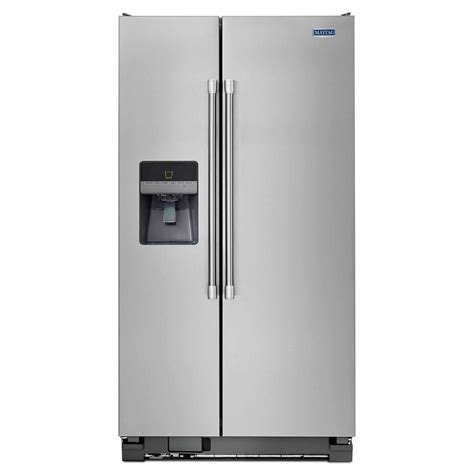 Water Dispenser For Refrigerator maytag msf25d4mdm 24 6 cu ft side by side refrigerator w water dispenser stainless steel