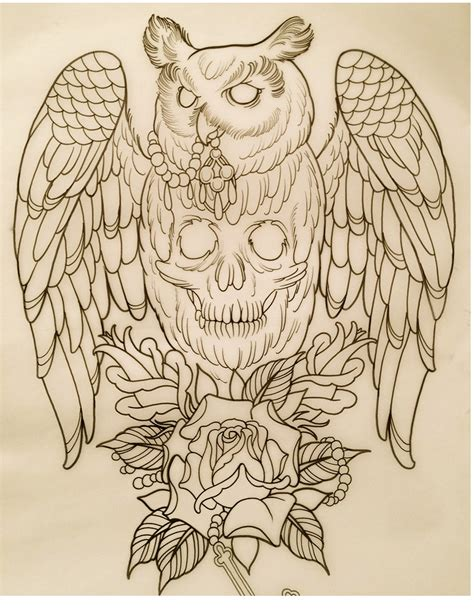 owl outline tattoo designs oldcenturytattoo i the sketch