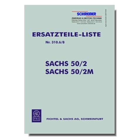 Sachs Motor 50 2 by Schreiber Zweiradshop De Ersatzteilliste Sachs Motor 50