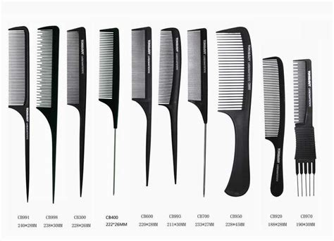 Types Of Hair Combs And Their Uses by Professional Hair Comb Tonyguy Salon Hair Comb Carbon