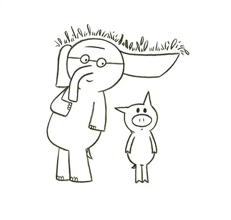 elephant and piggie coloring page az coloring pages