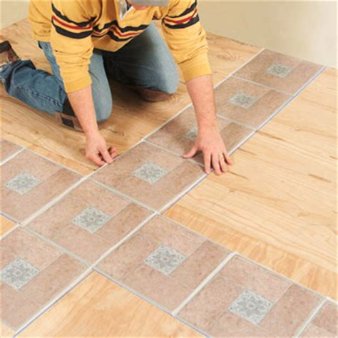 How To Lay Self Stick Tile Around A Toilet Ehow | installing self stick vinyl tile how to install