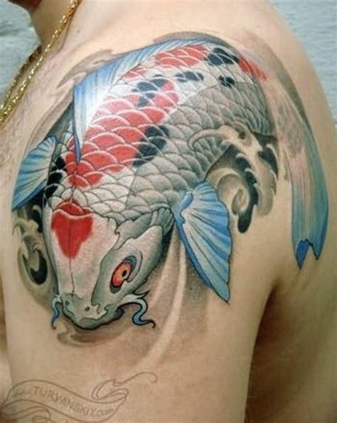 koi fish tattoo on shoulder best tattoo designs for men on shoulder