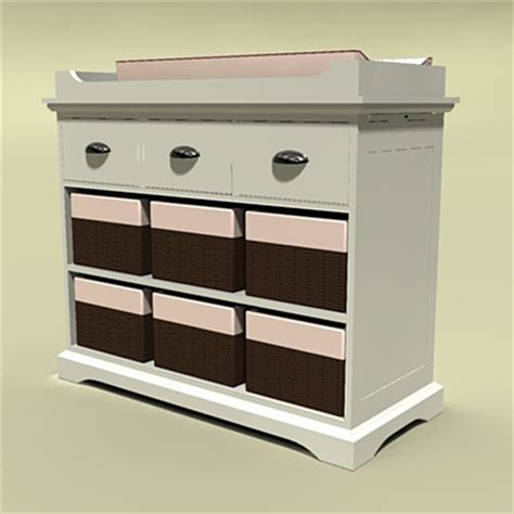 Restoration Hardware Changing Table Changing Tables 3d Model Formfonts 3d Models Textures