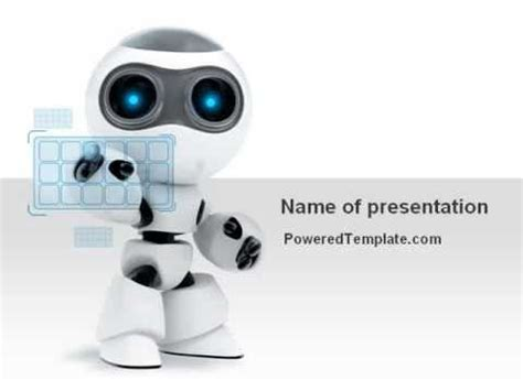 robotics themes for powerpoint robot model powerpoint template by poweredtemplate com