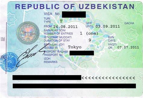 Visa Support Letter Uzbekistan Uzbekistan Visa Information Visa Support