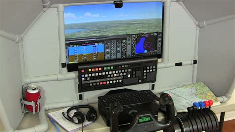 home flight simulator diy universal general aviation cockpit
