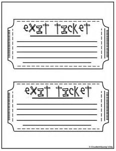 classroom exit ticket template best 25 exit tickets ideas on exit slips