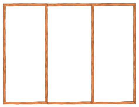 blank tri fold brochure template sle with orange border