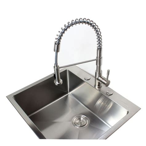 Top Mount Bar Sink by 25 Inch Top Mount Drop In Stainless Steel Single Bowl