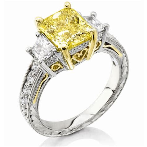 3 31 ct canary fancy yellow radiant cut