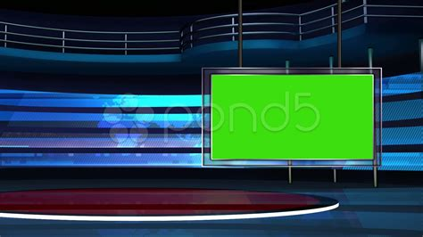 video news tv studio set 25 virtual green screen
