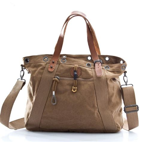 Khaki Handbag khaki canvas handbag canvas satchel bag bagsearth