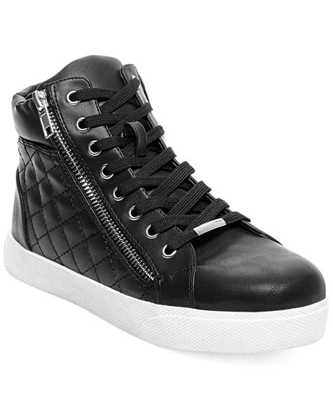 Steve Madden Quilted Sneakers For by Steve Madden Decaf Hightop Quilted Platform Sneakers In Black Lyst