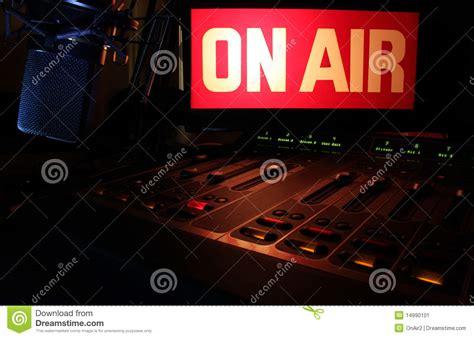 radio on air light on air radio panel stock image image of studio panel