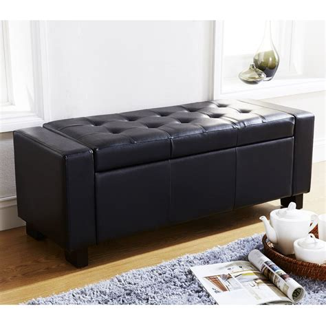 storage ottoman bench seat storage ottoman bench seat