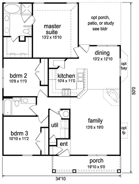 3 bedroom 2 bathroom house plans cottage style house plan 3 beds 2 baths 1413 sq ft plan