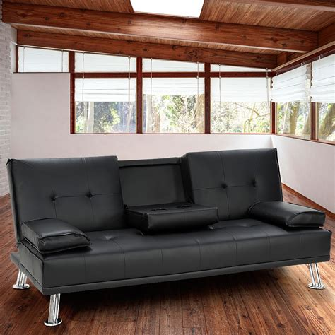 Rochester Leather Sofa Rochester Pu Leather Sofa Bed Lounge Black