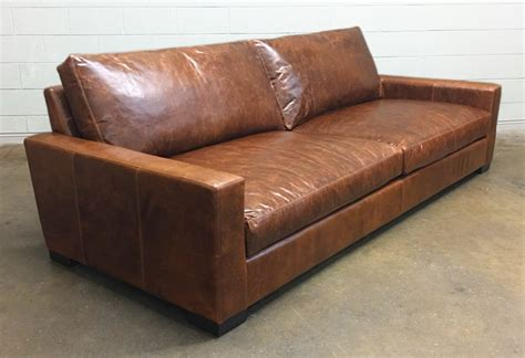 46 inch deep sofa braxton leather sofa and leather chair and a half