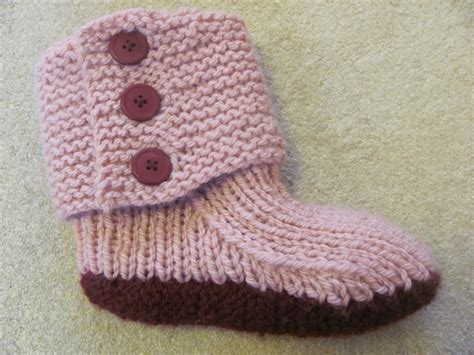 knitted slipper pattern the bookworm knitting