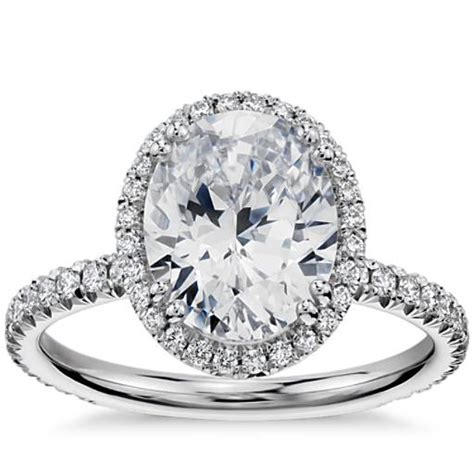 blue nile studio oval cut heiress halo engagement
