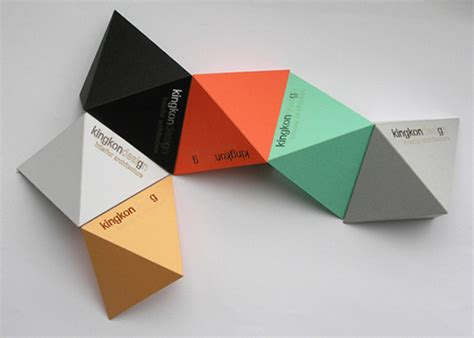 Cool Origami Cards - origami business cards