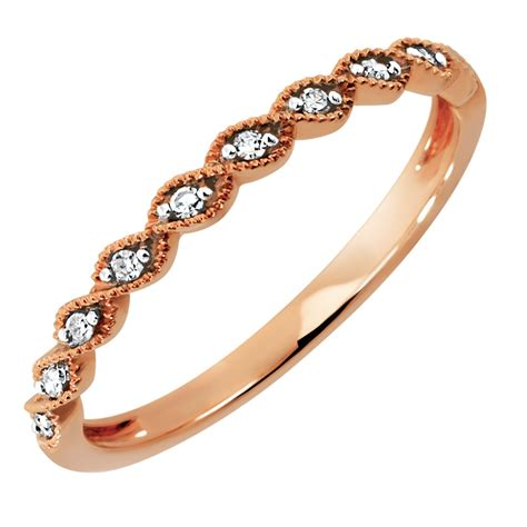 wedding band  diamonds  kt rose gold