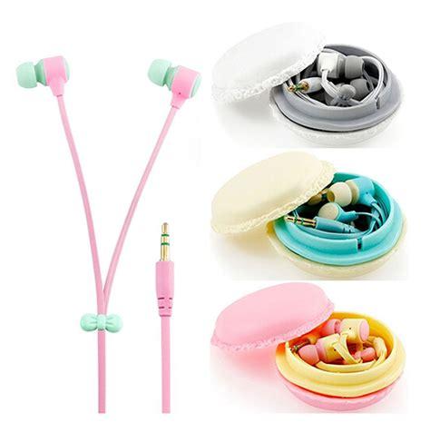 Headset Box Sibly Macarons Biscuit Box Earphone 1 in ear color macarons design headphones earphones earbuds headset ebay