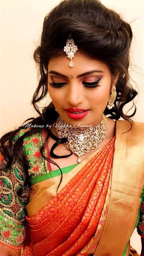 Prathima looks gorgeous for her reception. Hair and makeup