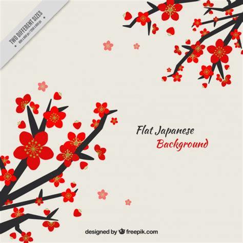 rami con fiori rami con fiori sfondo giapponese scaricare vettori