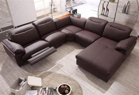 modern leather sofa recliner contemporary sectional sofa with recliner modern