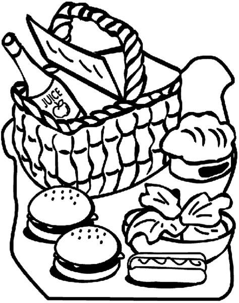 picnic coloring pages preschool picnic coloring page crayola com