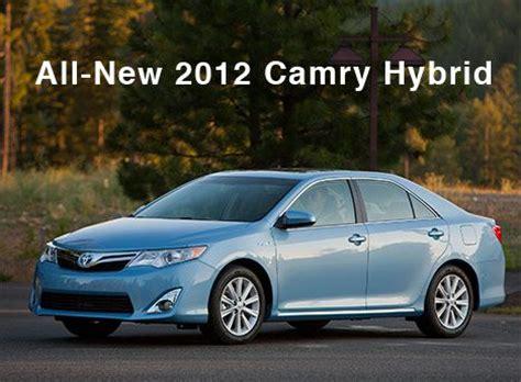 2012 Toyota Camry Hybrid Mpg New 2012 Toyota Camry Hybrid Unveiled 41 Mpg Treehugger
