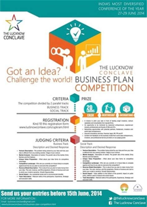 Business Plan Compeitions Mba by Business Plan Competition The Lucknow Conclave