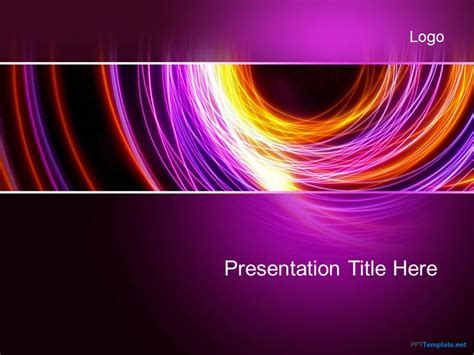 Abstract Powerpoint Templates Free free abstract purple ppt template