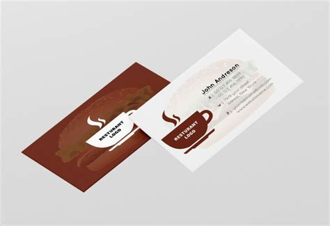 Restaurant Business Card Template by 45 Restaurant Business Cards Templates Psd Designs