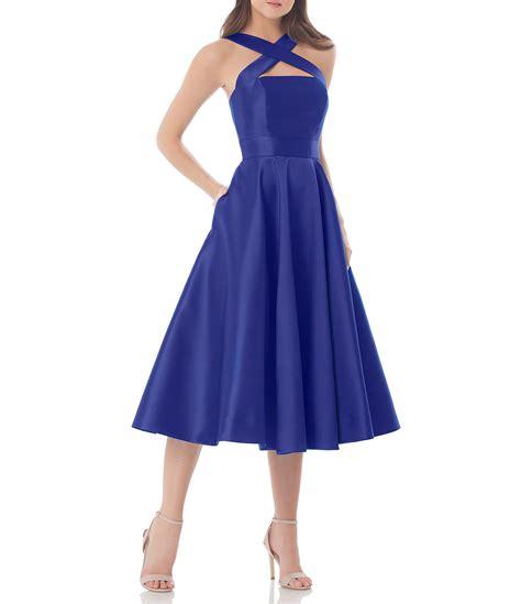 Midi Dress Valena Murah Limited marc valvo infusion cross front halter midi dress dillards