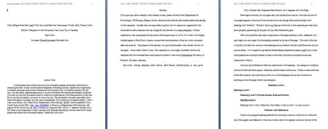 Apa Paper Template Format by Apa Paper Template In Word Doc Format 94xrocks