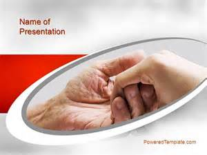 elderly care powerpoint template by poweredtemplate com