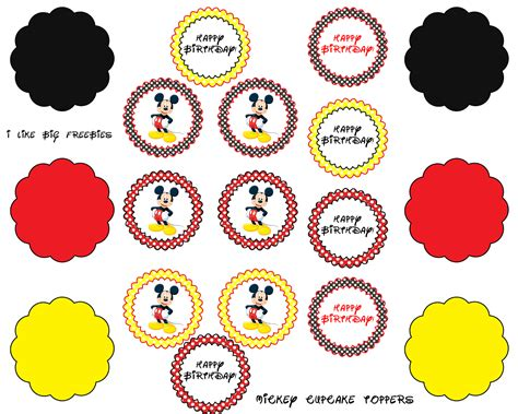 printable mickey birthday banner mickey mouse cupcake toppers free printable projects