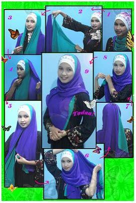 tutorial jilbab tumpuk 2 warna tutorial jilbab cara memakai pashmina 2 warna
