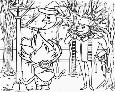 evil minions coloring pages free evil minions coloring pages