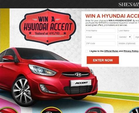 Hyundai Sweepstakes - acura car sweepstakes autos post