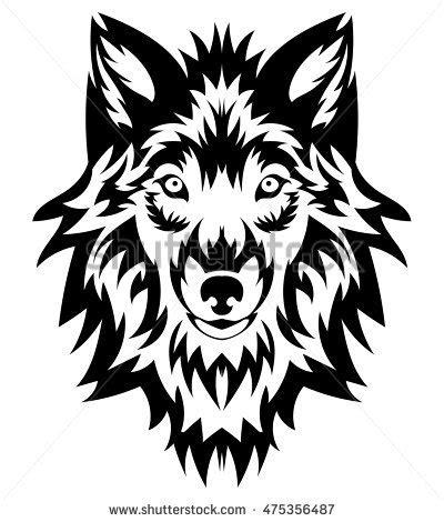 wolf tattoo logo wolf head logo design