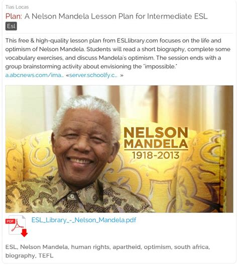 nelson mandela esl biography 10 best human rights lesson plans images on pinterest