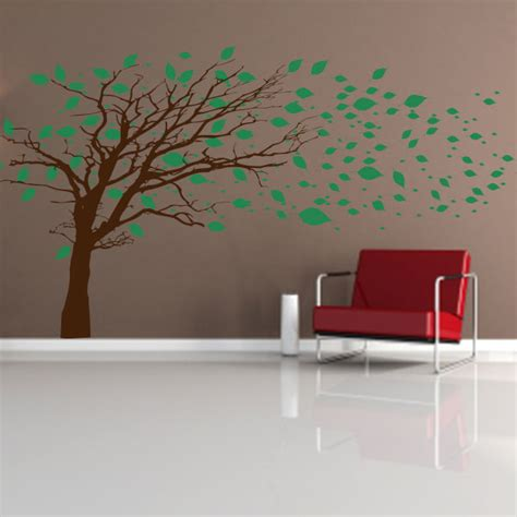 wall decal murals tree blowing in the wind wall decal tree mural decal