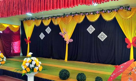decoration school beautiful stage decoration ideas for different school