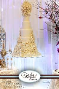 White Crystal Chandeliers Wedding Cakes Royal Cakes