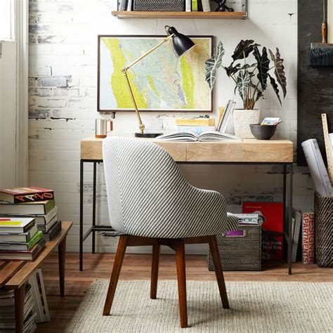 west elm industrial desk space saving ideas for office decorating