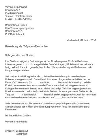Telekom Anschreiben Adrebe Muster Gt Bewerbung Als It System Elektroniker